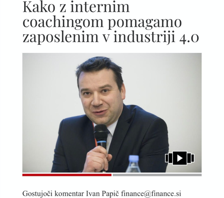 Časnik Finance: O izboru in usposabljanju internih coachev